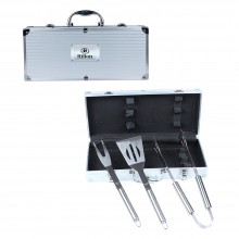 3 Piece Executive Stainless Barbecue Tool Set