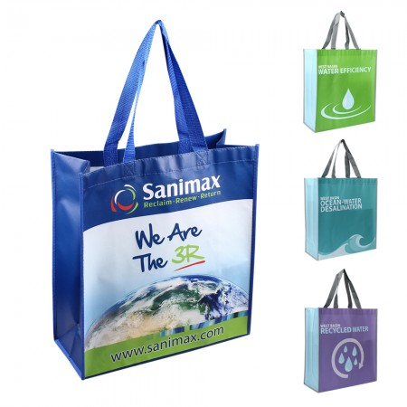 Custom Laminated Non Woven Poly Pro Tote Bag