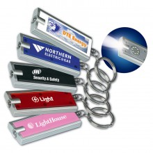 Rectangular LED Flashlight Keychain