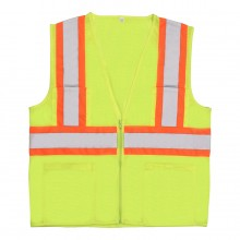 High Visibility ANSI Class 2 Safety Vest