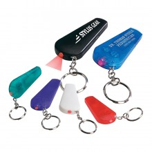 LED Light Whistle Key Chain